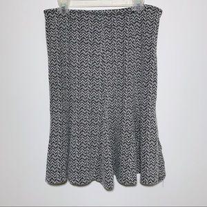 4/$25 Carole Little Pleated Grey Tweed Skirt 10